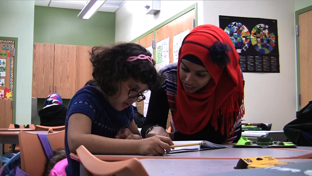To learn English, Arabic kids turn to homework club