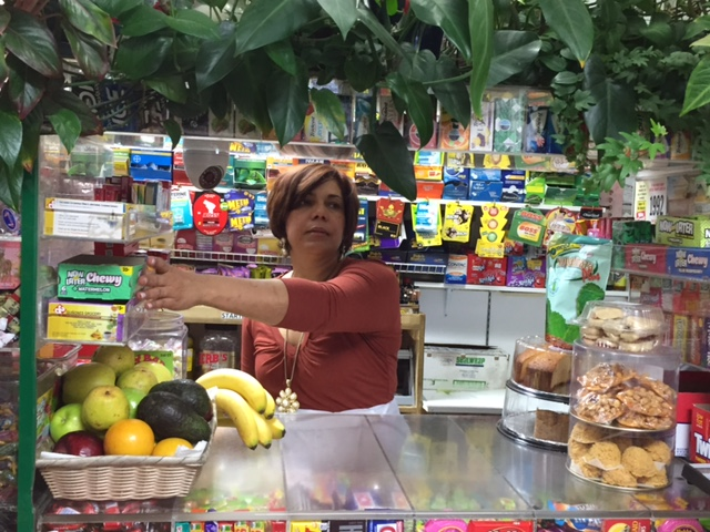 Arlette Quinones, owner of Quinones Grocery in Paterson, New Jersey is immigrated from the Dominican Republic.